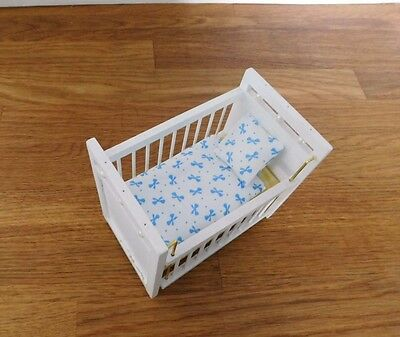 DOLLS HOUSE 12th  COT COVER / QUILT AND PILLOW BEDDING SET