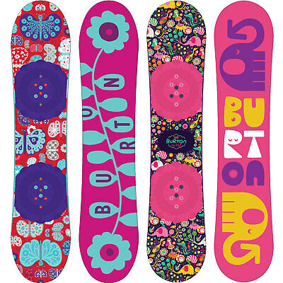 Burton Chicklet Children's Snowboard Girl Flat Top Different Lengths NEW
