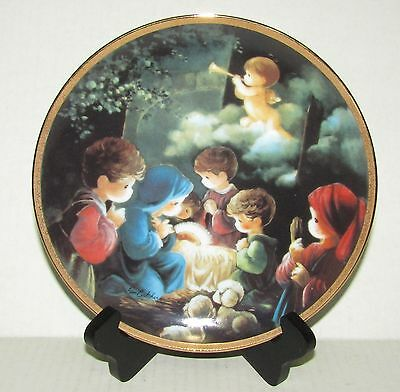 Come Let us Adore Him - Precious Moments Collector Plate - Hamilton Collection