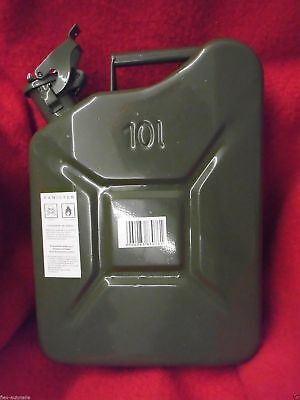 10L Canister Tin Reserve Canister Metal Canisters Fuel Tank