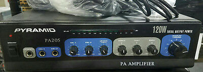 "Pyramid PA205 120 Watt Microphone PA Amplifier w/70V Output ""& Mic Talkover"