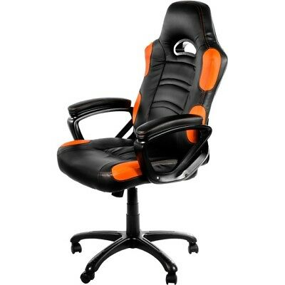 Arozzi Enzo Series Gaming Racing Style Swivel Chair - Black/Orange