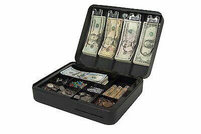 Royal Sovereign RSCB-300 Deluxe Steel Cash Box 4 Bill/9 Coin Compartments