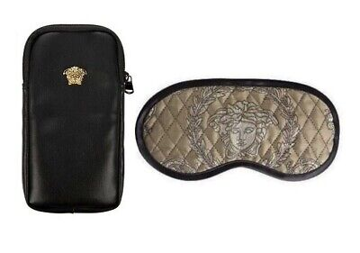 1376d399c VERSACE BAROQUE MEDUSA Slippers 1 Pair with Case - Size 41 - Black ...