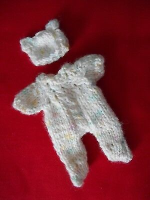 "Doll Clothes Pastels Suit for ooak Hand-sculpted baby fits 4"" to 5"" A. Drake"
