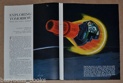 1960 magazine article about NASA, early space flight & exploration