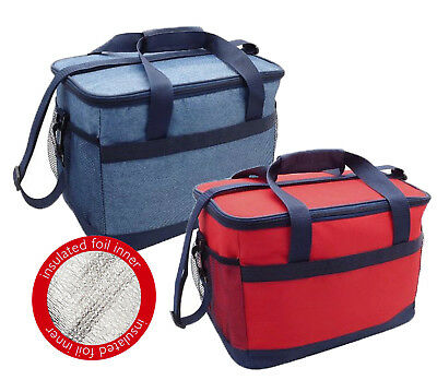 Deluxe 16 Ltr Insulated Cool Bag Camping Picnic Cooler Box Travel Lunch Ice Food