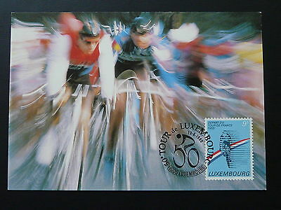 bicycle cycling Tour de France maximum card Luxembourg 1990