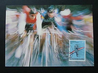 bicycle cycling Tour de France maximum card Luxembourg 1989