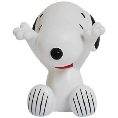 Peanuts Snoopy Sitting with Arms Out Ceramic Figurine Eyeglass Holder, NEW BOXED