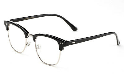Clubmaster Clear Lens Glasses Black Aviator Retro Eyewear Men Women Vintage