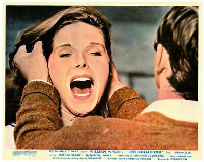 The Collector original lobby card Terence Stamp terrifies Samantha Eggar