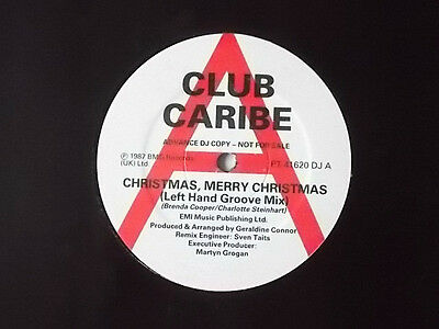 """Club Caribe Christmas, Merry Christmas 12"""" Promo Single 1987 Excellent"""