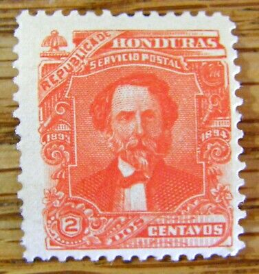 1884 Honduras Red 2 Centavo Stamp By Seebecks Unusual Scarce