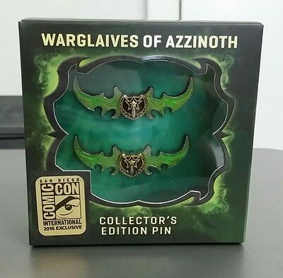 2016 SDCC Exclusive .. Blizzard World of Warcraft Warglaives of Azzinoth Pin