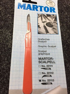 MARTOR 22113 Orange Graphic Scalpel craft tool knife - Made in Germany