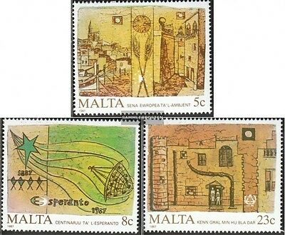 Malta 772-774 (complete.issue.) unmounted mint / never hinged 1987 environment y