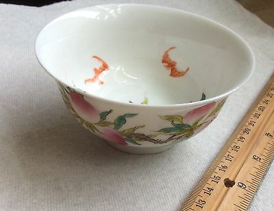 Chinese hand pained porcelain bowl peach