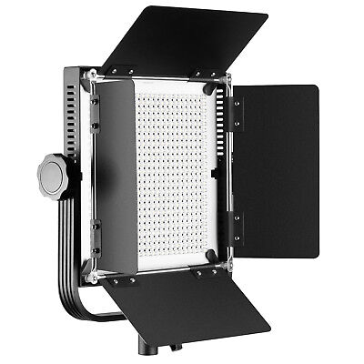 Neewer 40W 576pcs LED Panel Dimmable Bi-color LED Video Light with Barndoor