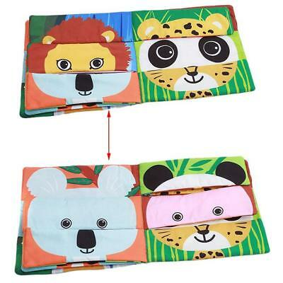 Cartoon Animal Green Mix-and-Match Baby Cloth Book Developmental Toys New LA