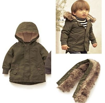New Baby Toddler Boys Fashion Spring Winter Zipper Hooded Coat Outerwear Jacket