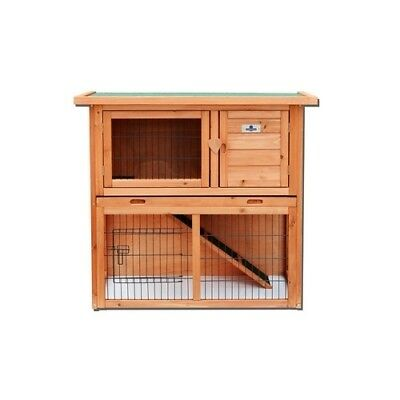 Confidence Pet 3ft 2 Tier Rabbit Hutch Bunny Guinea Pig Cage Pen Built In Run