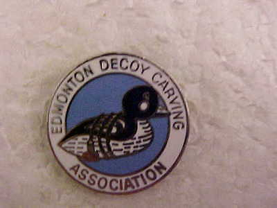 Edmonton Decoy Carvers Association Lapel Pin Duck