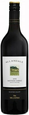 Allandale `Matthew ` Shiraz 2014 (12 x 750mL), Hunter Valley, NSW.