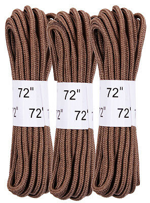 """Coyote Brown Military 72"""" Boot Laces 3 Pack rothco 6017"""