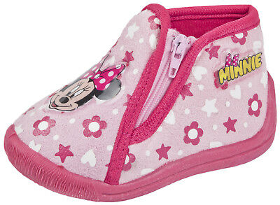 Minnie Mouse Slippers Girls Character Booties Toddlers Mules Infants Shoes Size