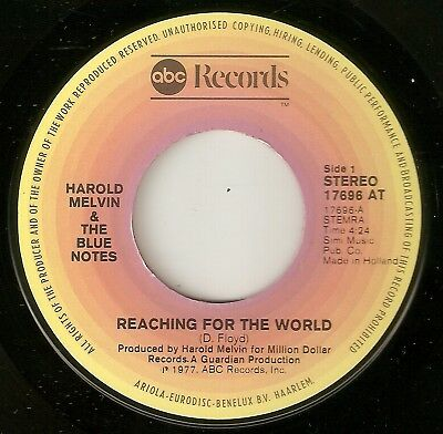 HAROLD MELVIN Reaching For The World ABC  PICTURE COVER NORTHERN SOUL 45