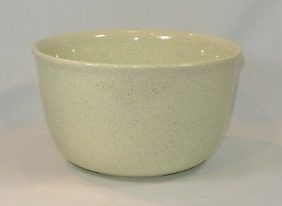 BAUER Pottery GREEN SPECKLED Mixing Bowl 8 inches #18 Vintage