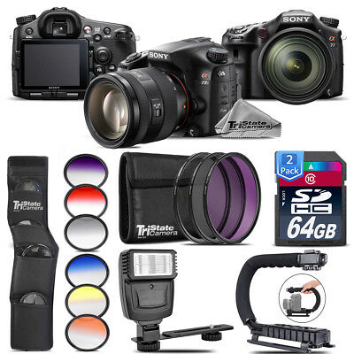 Sony Alpha a77 DSLR + 16-50mm 2.8 + 6PC Graduated Color Filter + Flash + 128GB