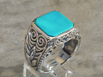 A beautiful reproduction of an Art Nouveau Turquoise ring