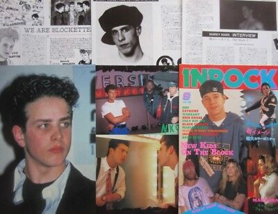 New Kids On The Block MARKY MARK 1992 STICKER & 10PAGE CLIPPING JAPAN N4 P14