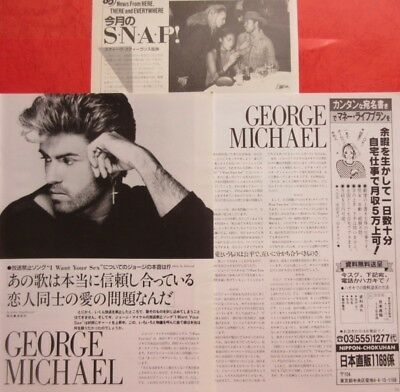 George Michael 1987 Clipping Japan Magazine Cutting K3 T15 4Page