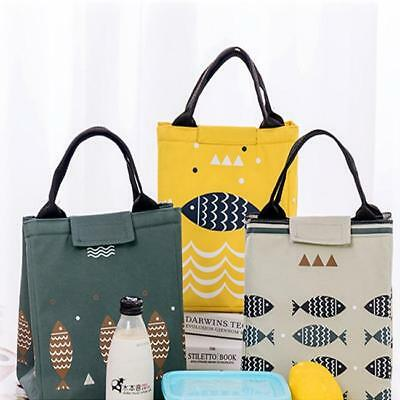 Kids Women Large Insulated Thermal Lunch Box Bento Cooler Tote Picnic Bag LC