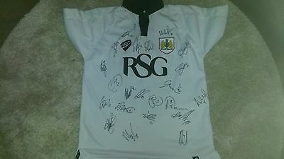 """Superb Bristol City Away Shirt Signed By 22 - """"proof"""""""