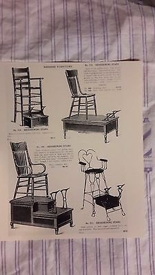 1900 Vintage Wooden Shoeshing Stands Barbershop Sign Ad Prices