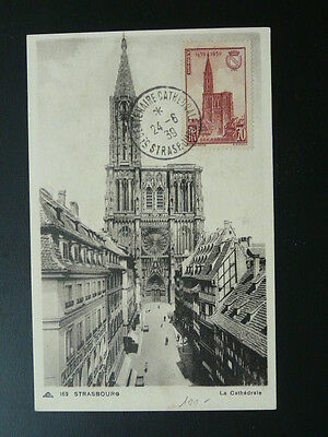 cathedral of Strasbourg maximum card 1939