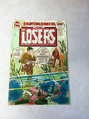 OUR FIGHTING FORCES #144 original hand colored cover art 1970'S KUBERT, LOSERS