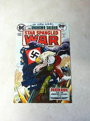 STAR SPANGLED WAR #177 original hand colored cover art 1970's UNKNOWN SOLDIER