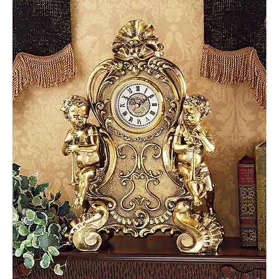 French Rococo Replica Baroque Roman Numeral Cherub Clock Clocks NEW