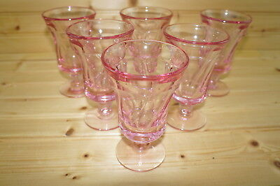 Fostoria Jamestown Pink (6) Juice Glasses, 4 3/4""