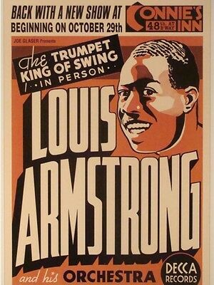 "Louis Armstrong Connies 16"" x 12"" Photo Repro Concert Poster"