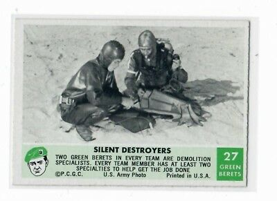 1966 Philadelphia Chewing Gum Corp. Green Berets Card #27 Silent Destroyers