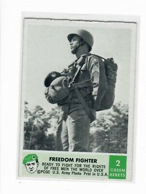 1966 Philadelphia Chewing Gum Corporation Green Berets Card #02 Freedom Fighter