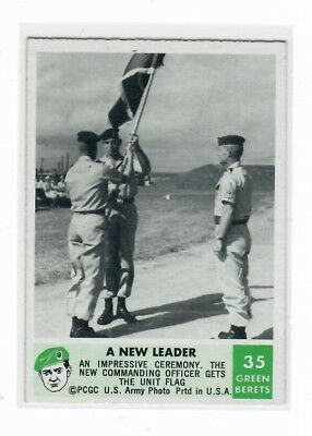 1966 Philadelphia Chewing Gum Corporation Green Berets Card #35 A New Leader