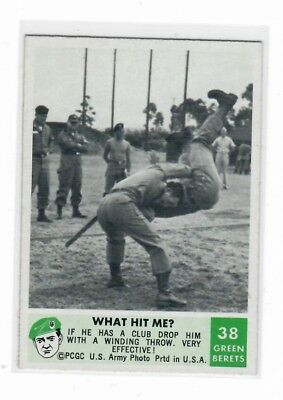1966 Philadelphia Chewing Gum Corporation Green Berets Card #38 What Hit Me?