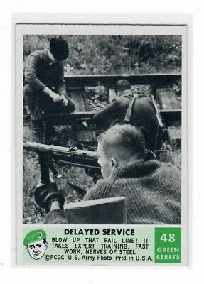 1966 Philadelphia Chewing Gum Corporation Green Berets Card #48 Delayed Service